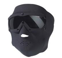 Masque Néopren Noir Swiss avec lunettes