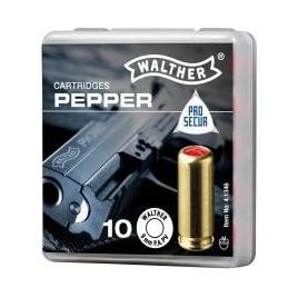 Cartouche 9mm Gaz Poivre x 10 Pistolet