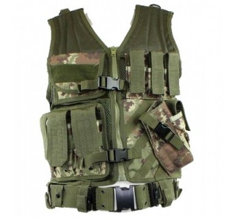Gilet US avec holster Camo CCE