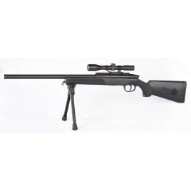 Fusil sniper airsoft avec lunette point rouge