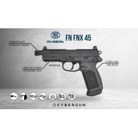 Pack FNX-45 Canon long Gaz Blowback 200503