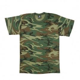 Tshirt camo woodland